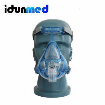 Harga BMC FM4 Auto CPAP APAP BiPAP Full Face Respirator Mask Breathing With Adjustable Chin Headgear Strap For Sleep Apnea Snoring Stopper