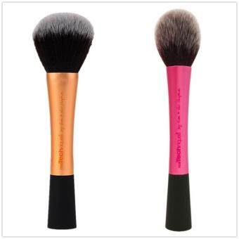 Harga Real Techniques Powder Brush +Blush Brush Cosmetics Tools Combination Sales