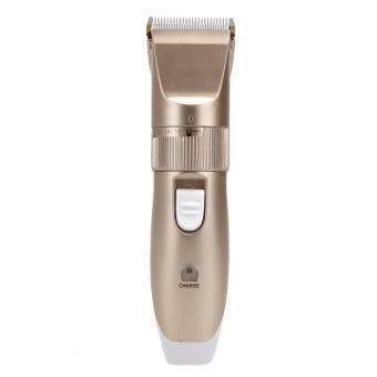 Harga 220-240V Professional Hair Trimmer Clipper Men Electric Barber Cutter (Gold)