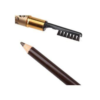 Harga Mac Leopard Professional Eyebrow Makeup Pencil with Brush Packet of 12 pieces (Brown)