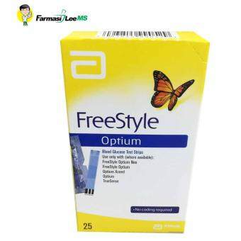 Harga Abbott Freestyle Optium Test Strip 25'S (Exp 31/10/17)