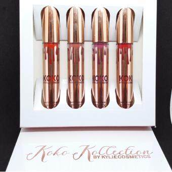 Harga [HOT SELLING] 4 PCS Kylie Jenner Koko Kocollection by Kylie Cosmetic Burgundy Matte Liquid Lipstick