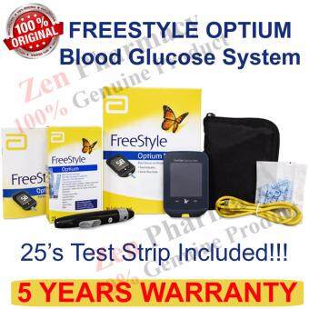 Harga FreeStyle Optium Neo Glucometer Blood Glucose and Ketone Monitoring System +25 glucose strips (5 Years warranty)
