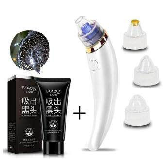 Harga 2 in 1 Bye Bye Blackhead Kit - Strong Rechargeable Facial Cleaner Suction Vacuum Adjustable Heads + BIOAQUA Remove Black head Mask