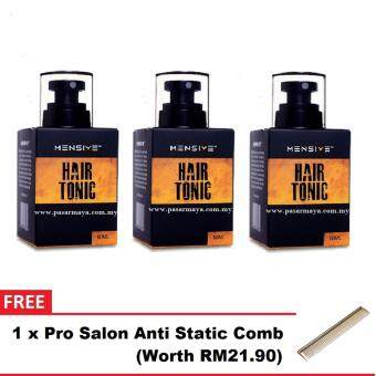 Harga [NEW] 3x Original Mensive Hair Tonic 60ml + FREE Comb