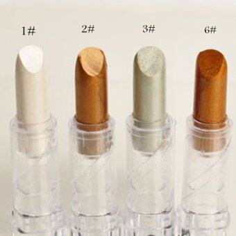 Harga Cocotina 1 pc Eye Shadow Stick Cosmetic Eye Stick Smoky Eyes Shimmer Beauty Makeup - 03#Pearl Silver (Intl)