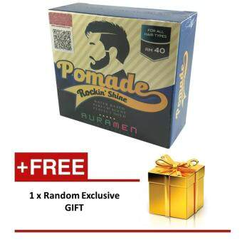 Harga Auramen Pomade Rocking Shine by Aura Men With Free Extra Gift