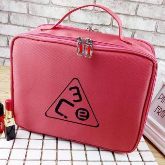 Harga Lady's Double-Deck Make-up Portable bag - red