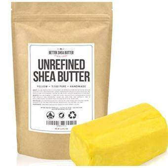 Harga Yellow Shea Butter by Better Shea Butter - African, Raw, Pure - Use Alone or in DIY Body Butters, Lotions, Soap, Eczema & Stretch Marks Products, Lotion Bars, Lip Balms and More! - 1 lb