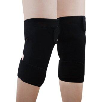 Harga Cocotina 1 Pair Tourmaline Self-Heating Knee Pads Far Infrared Magnetic Therapy Heating Protection (Black) (Intl)