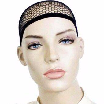 Harga 5 Pack Open end Black Mesh Net Wig Cap Liner