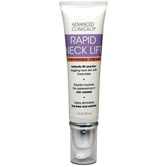 Harga Advanced Clinicals Rapid Neck Lift Tightening Cream. Anti-Aging daily firming moisturizer for sagging skin, creases & fine lines, wrinkles. With Vitamin E, Aloe Vera, and Gotu Kola. 2oz.