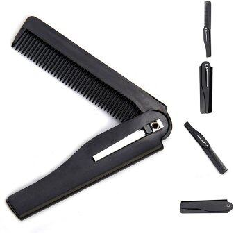 Harga Handmade Folding Pocket Clip Hair Moustache Beard Comb JYL