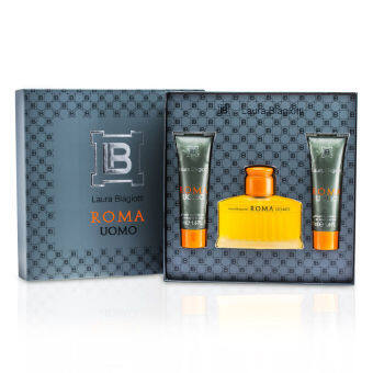 Harga Laura Biagiotti Roma Coffret: Eau De Toilette Spray 75ml/2.5oz + Shower & Bath Gel 50ml/1.6oz x 2 3pcs