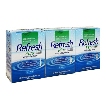 Harga Allergan Refresh Plus Eye Drops 30 vials x 0.4ml X 3