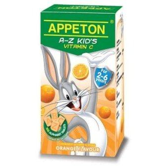 Harga APPETON A-Z Kids Vitamin C 30mg Orange 100 tablets