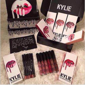 Harga 8 IN 1 KYLIE Matte Gloss Liquid Lipstick Cosmetics Makeup Sets (All Colors)