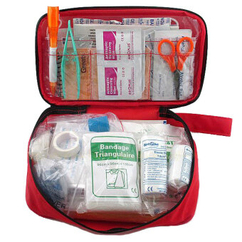Harga GETEK First Aid Kit Outdoor Camping Sport Travel Emergency Medical Tool Empty Bag (Red)