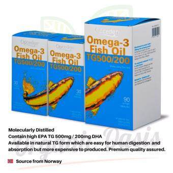 Harga Opceden Omega-3 Fish Oil 90's + 30's Free 30's softgels 1000mg