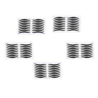 Harga 40 Pairs Black Eyes Stickers Temporary Double Eyelid Tape Eye Makeup Tools