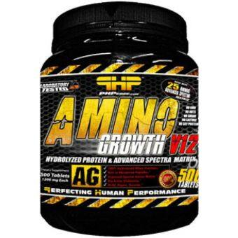Harga PHP Amino Growth v12 (500 Tablets) Chocolate
