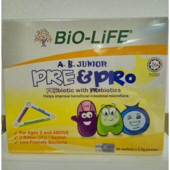 Harga Bio-Life A.B. Junior Pre and Pro (100 x 2.3 g sachets of powder)