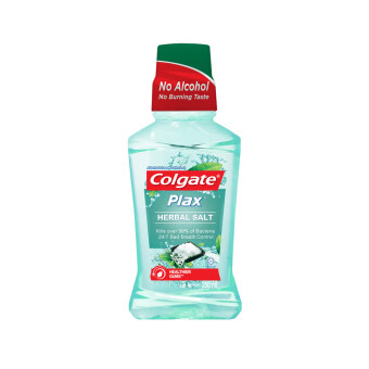 Harga COLGATE Plax Mouthwash Herbal Salt 250ML