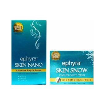 Harga Ephyra Skin Nano Advanced Repair Serum (1 Unit) + Skin Snow Advanced White Repair (1 Unit)