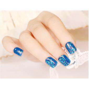 Harga 24pcs Short Design Fake Nails Faux Ongles Full Cover False Acrylic Nails Artificial Design Tips 24pcs/Set Nail Tips colors