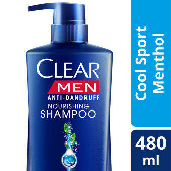 Harga CLEAR Men Anti Dandruff Cool Sport Menthol Shampoo 480ml