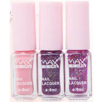 Harga MAXDONA Professional 3-LAYER Gradient Water Based Peel-Off Nail Polish - Code 03 Purple