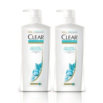 Harga Clear Ice Cool Menthol Anti-Dandruff Shampoo 700 ml x2