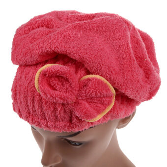 Harga Hair Turban Quickly Dry Hair Hat Wrapped Towel Red