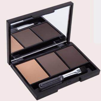 Harga Maxdona Fashion Brow 3D Contouring Palette Makeup Eye Brow With Mirror & Brush Waterproof Eye Shadow Eyebrow Powder Make Up Palette Beauty Cosmetic