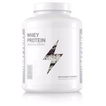 Harga Battery Whey Protein (2000g/4.4 lbs) - 66 Servings - Cookies & Cream Flavour