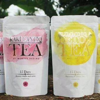 Harga HOT COMBO Set SLIMMING & DETOX Tea + KAKI CANTIQ Tea by MEDINA DESIRE