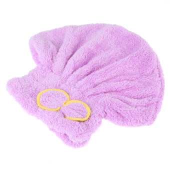 Harga Hair Turban Quickly Dry Hair Hat Wrapped Towel (Purple)