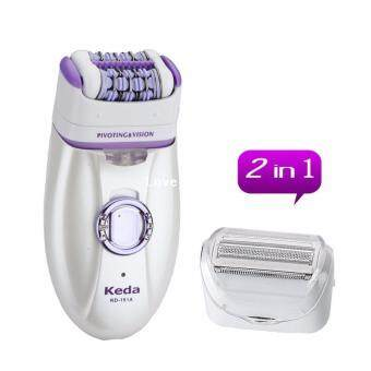 Harga Keda kd-191A 2-in-1 RECHARGEABLE Epilator Ladies Hair Removal Shaver Trimmer