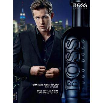 Harga Hugo Boss Boss Bottled Night Eau De Toilette Spray 100ML Men (Original-Tester)