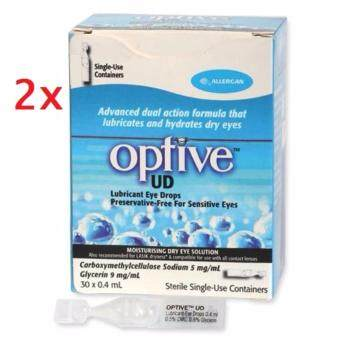 Harga 2 x Allergan Optive UD Eye Drops 30 vials x 0.4ml
