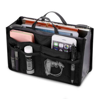 Harga JinGle Multifunction Travel Cosmetic Insert Pouch Storage Bag (Black)