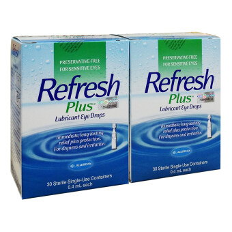 Harga Allergan Refresh Plus Eye Drops 30 vials x 0.4ml Twin pack