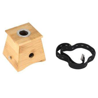 Harga Fashion Moxa Roll Stick Bamboo Box Health Care Healing Therapy Moxibustion Holder Case(1 Hole)