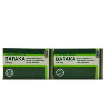 Harga Baraka 450mg soft gel 24's - 2pack