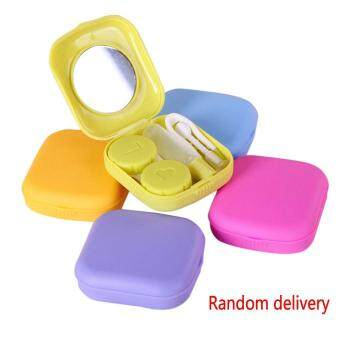 Harga Portable Contact Lens Kit Case Box Lens Storage Holder Container