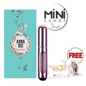 Harga SD 5ml Mini Scent - Pink : Anna Sui Secret Wish EDT + FREE RM20 SD Voucher