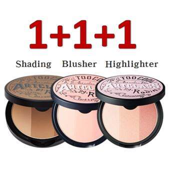 Harga [TOO COOL FOR SCHOOL]♥1+1+1♥ Art Class By Rodin SET: Shading+Highlighter+Blusher