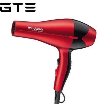 Harga GTE 2000W Wind Colour Professional Hair Dryer Red