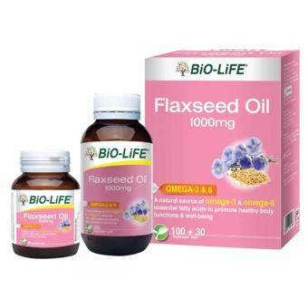 Harga BIO-LIFE FLAXSEED OIL 1000MG 100'S + 30'S