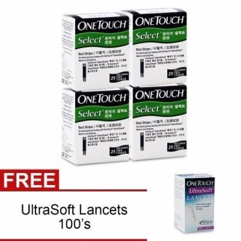 Harga One Touch SelectSimple Test Strips 100's FREE UltraSoft Lancets 100's